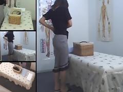 Cute Jap MILF fingered in voyeur massage room video tube porn video