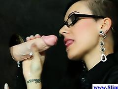 Solo gloryhole euro drenched with cum by bukkake cock tube porn video