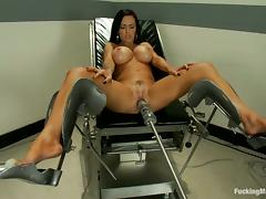 Jenna Presley the brunette with big fake tits gets toyed tube porn video