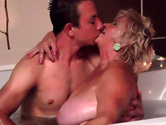 Granny have sex with a nice young dick tube porn video