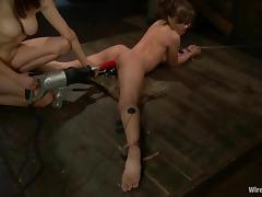 Lesbian Femdom BDSM Session with Wicked Toying with Different Toys tube porn video