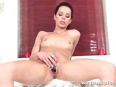 Ruth Medina pisses in the shower tube porn video