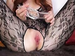 Gyno toy in her huge redhead cunt tube porn video