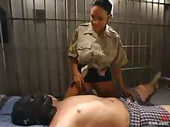 Cherokee toys and humiliated Damien in prison ward tube porn video
