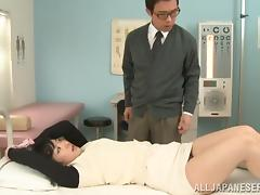 Japanese angel with a nice ass is riding her dude tube porn video