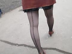 Sexy stockings upskirt tube porn video