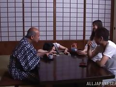 Perverted old fart seduces Marin Aono and bangs her tube porn video