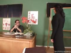 Brunette Mom Fucks Her Child's Teacher tube porn video