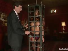 Amazing Mia Lelani gets toyed and fucked in bondage video tube porn video