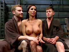 Sexy Gia Dimarco dominates two guys and gets fucked tube porn video