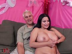 Some 69 with a filthy and chubby brunette tube porn video