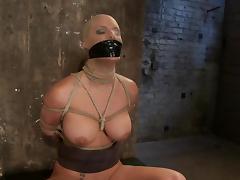 Blindfolded and bondaged Phoenix Marie is loving it tube porn video