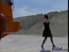 Katarina got laid painless she is four sheets to the wind away from a construction worker tube porn video