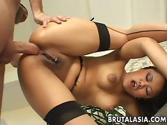 Annie Cruz has her ass stretched with toys. tube porn video