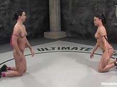 Annie Cruz coupled with Wenona bagatelle coupled with at a loss for words pussies in a ring tube porn video