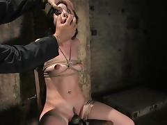 Superb Sasha Grey gets her tits and pussy clothespinned tube porn video