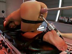 Sweet Breanne Benson gets wrapped and toyed by a machine tube porn video
