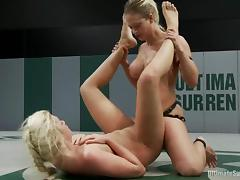 Stunning blonds are fighting and having sex tube porn video