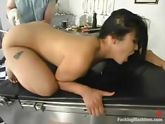 Mika Tan moans loudly while getting her vag smashed by a fucking machine tube porn video