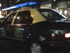 Spy cam shooting adult couple getting orgasm in taxi tube porn video
