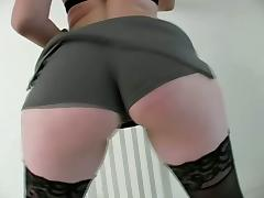 Nice Blowjob From Hot Redhead Amateur Chick In Stockings tube porn video