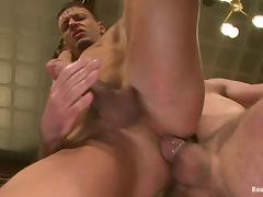 Josh West sucks big dick and fucks Adan Knox in the ass tube porn video