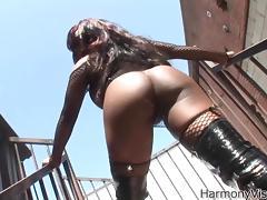 Ebony Anal Princess Jada Fire is back on stage tube porn video