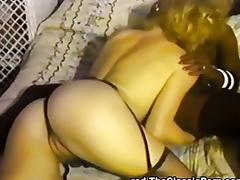 Black tongue inside hot white pussy tube porn video