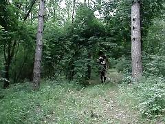 crossdresser in the wood tube porn video