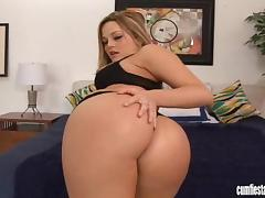 Dazzling Alexis Texas gets fucked in her bald pussy tube porn video