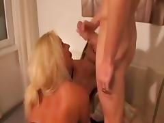 amateur threesome with two blonde bitches tube porn video