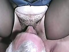 A naughty girl in sexy police uniform gets fucked by an old man tube porn video