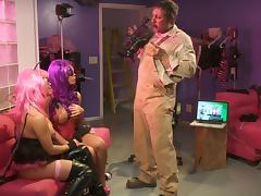 Freaky Mia Lelani and Nicole Aniston show their cock-sucking skills tube porn video