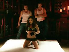 Gracie Glam gets her pussy and ass fucked hard by two men tube porn video