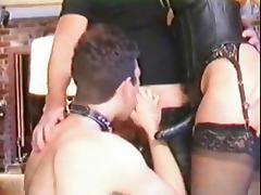Couple Dominates Bi Sissy MMF tube porn video