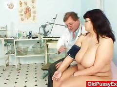 Horny Doctor Fingers His Mature Amateur Patient tube porn video