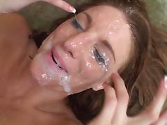 Fucking and bukkake tube porn video