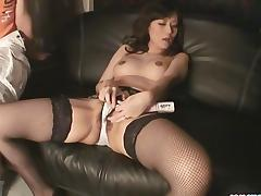 Manami Komukai In Stockings Masturbating tube porn video