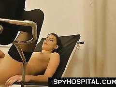 Medical exam hidden camera in gyno clinic tube porn video