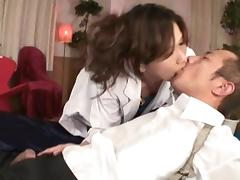 Asami Yoshikawa Pretty Japanese model rides a huge cock tube porn video