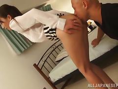 Hot mature Asian tramp Shiho gets doggy style tube porn video