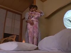 Asian teen Aino Kishi fucked hard in her silk kimono tube porn video