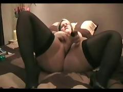 BBW MILF Dildoing tube porn video