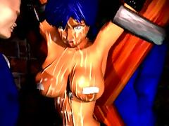 Stunning 3D animation with humiliations tube porn video
