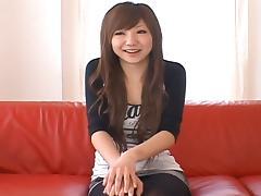 Ana Oshirino Lovely Asian babe spreads her legs for a fucking tube porn video