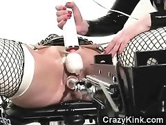 Latex Bondage and Fuck Machine! tube porn video