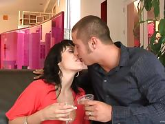 Luscious Lopez and Beverly Hills suck a wang and jump on it by turns tube porn video