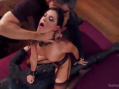hot brunette offering sex favours tube porn video