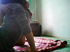 Russian Girlfriend Sideways Sex tube porn video
