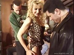 MILF in Thigh High Stockings Takes on Three Guys tube porn video